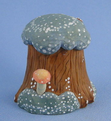 G. DeBrekht Mushroom Tree Stump Village Accessory Rare