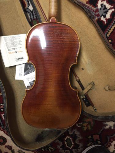 Old German 1713 Stainer copy  4/4 Violin, Repair Or Parts. Ebony board.nice back