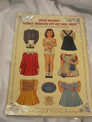 Paper Dolls Queen Holden Gloria Embossed Cut-out Doll Sheet New in Plastic 1985
