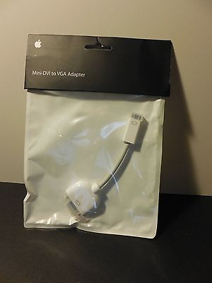 Genuine Apple Mini DVI to VGA Adapter M9320G/A - NEW
