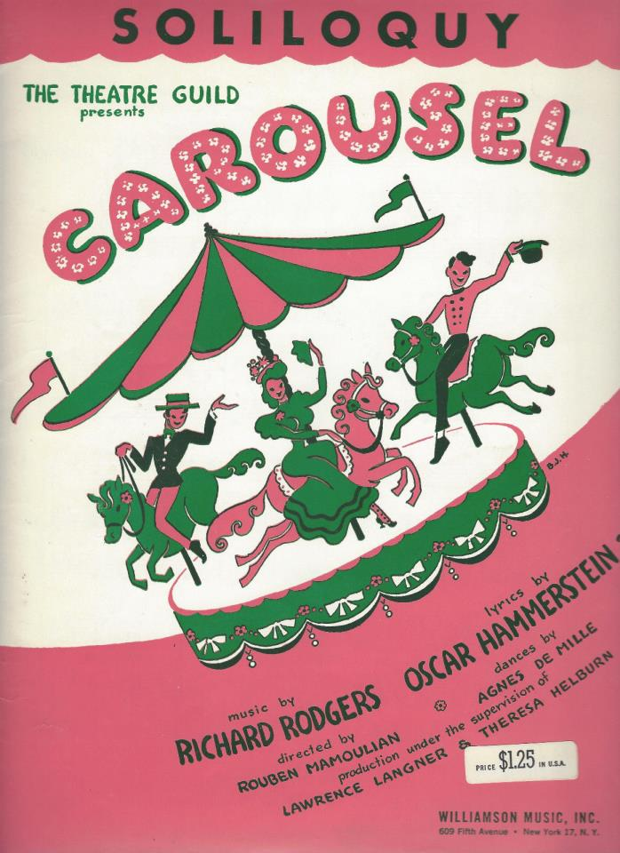1945 Vintage Broadway Sheet Music Soliloquy from Carousel Rodgers & Hammerstein