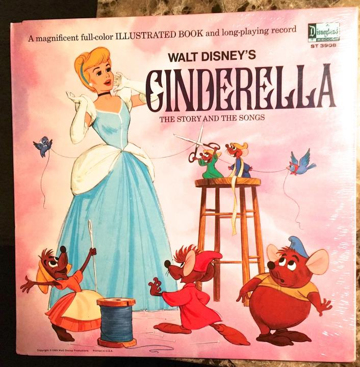 VINTAGE LP WALT DISNEY CINDERELLA The Story and the Songs - NEW SEALED