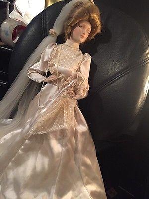 Franklin Heirloom Mint The Gibson Girl Bride Doll 22