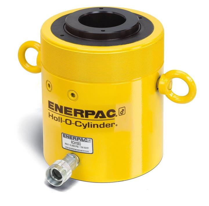 """NEW Crated ENERPAC RCH-1003 100 Ton Hollow Ram Hydraulic Cylinder • 3"""" Stroke"""