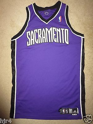 Sacramento Kings 2007-08 NBA Game Worn Adidas Blank Jersey 44