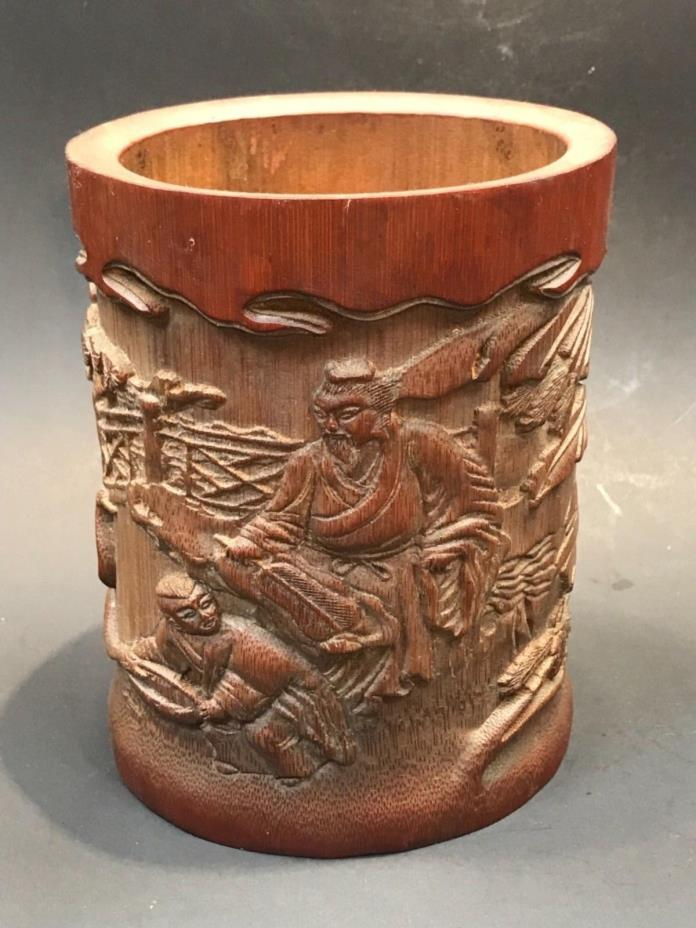Old Bamboo pen holder