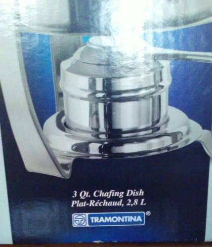 NEVER USED! TRAMONTINA CHAFING dish 3 Qt.