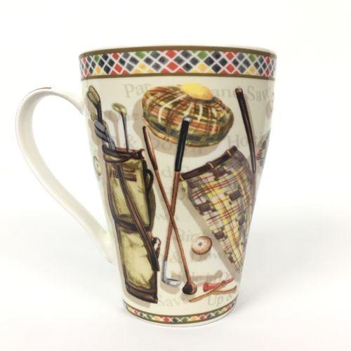 Paul Cardew Golf Mug Coffee Cup Designed England Hit 'Em Straight Handle Decor