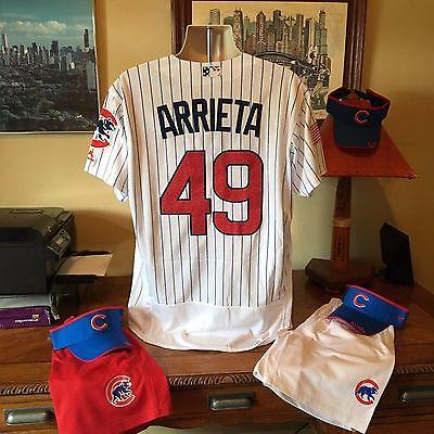 Chicago Cubs #49 Jake Arrieta White Fashion Stars Stripes FB Jersey 44 Large