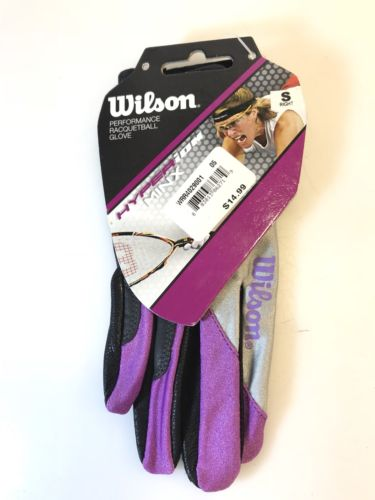 Wilson Competitor Performance Racquetball Glove Small Purple Silver Right Hand