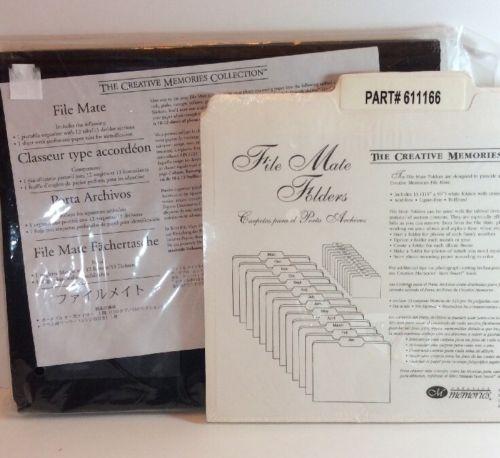 Creative Memories File Mate Portable Accordion Paper Organizer & Folders New