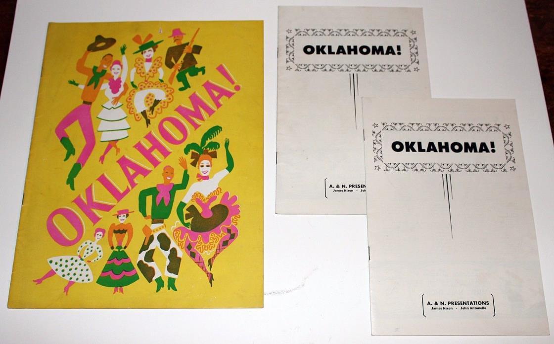 Original 1946 Rodgers & Hammerstein OKLAHOMA! Souvenir Theater Program Ephemera