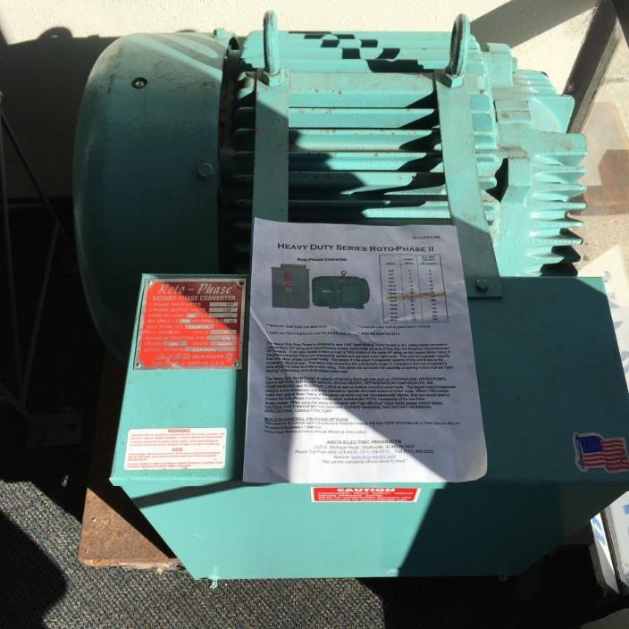 Roto Phase Converter Model#HD25VR