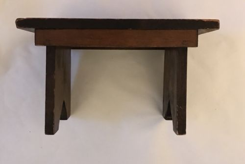 Vintage Mid Century Rustic Handmade Wood Step Stool
