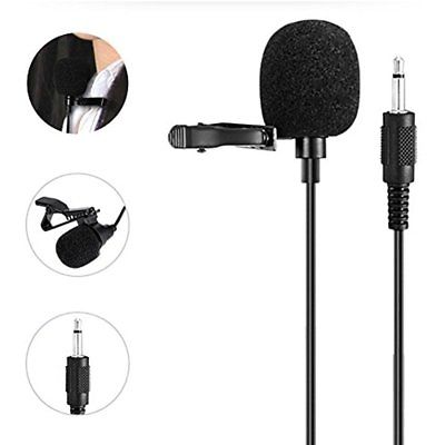 Amplifier Accessories Portable Collar Clip Microphone 3.5mm Audio Compatible All