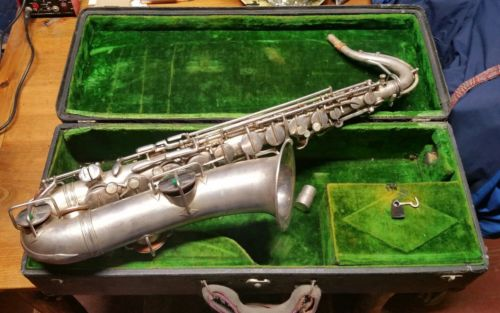 Vintage 1921 Holton C melody saxophone low pitch SN 6571