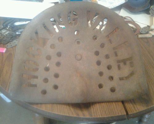 Rare Antique vintage cast iron tractor seat Hocking Valley