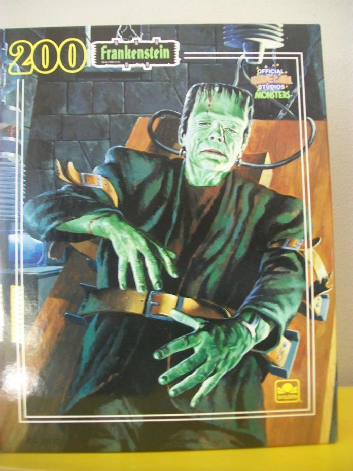 Vintage 1990 Golden Frankenstein Puzzle Sealed