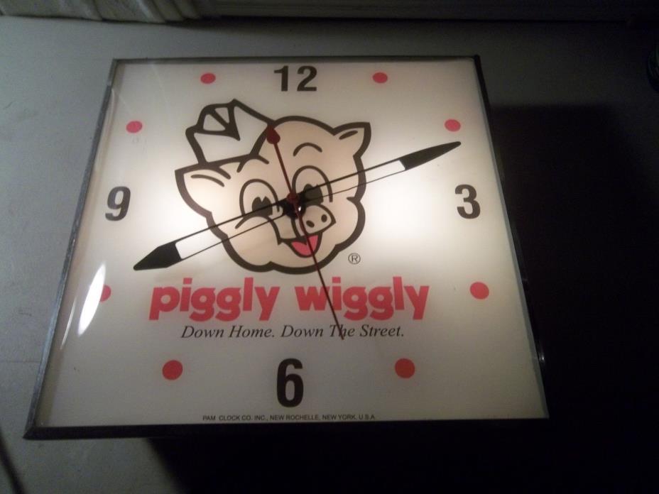 Vintage Pam Clock Piggly Wiggly