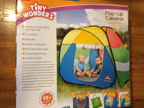 Outdoor Play Tent: Tiny Wonders Pop-Up Cabana, UV Protection- NEW