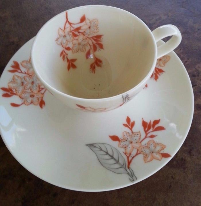 CASTLETON  MANDALAY Demitasse Coffee cup and saucer  Cherry Blossom