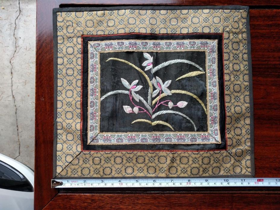 Chinese vintage silk embroidery flower