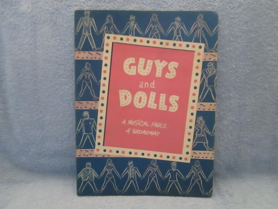 Vintage Theatre Program GUYS AND DOLLS; 1950's; ALDA, BLAINE, STUBBY KAY
