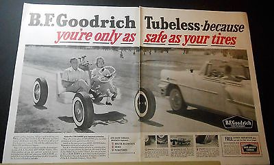 1956 GOODRICH tubeless tires partial GOLF CART Ad //OR RCA aluminized tube Ad