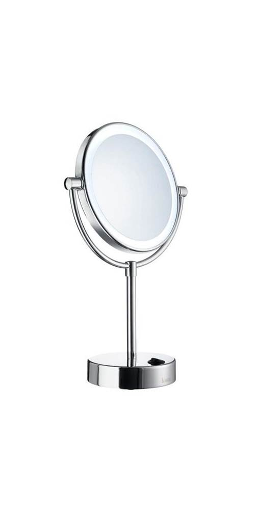 Dual Lighted 2 Sided Make-Up Mirror in Polished Chrome Finish [ID 3444155]