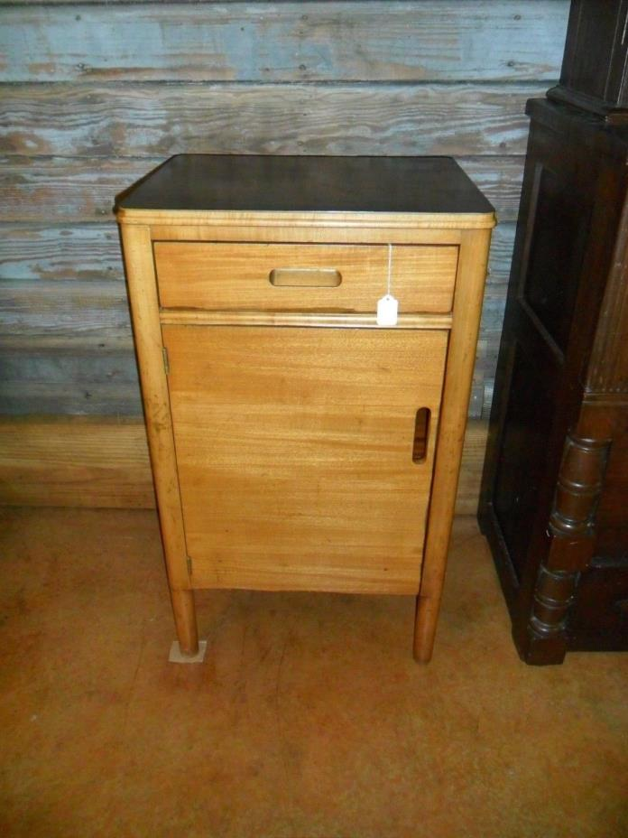 Vintage Wood Doctor Dentist Medical Cabinet Apothecary Formica top Dovetail NICE