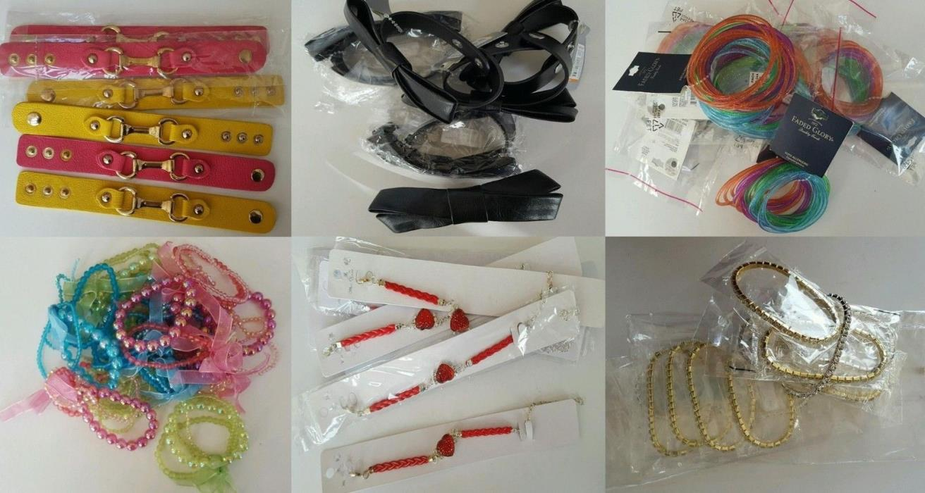 New Wholesale Lot of 55 Bracelets Charm Leather Beads Jewelry Fashion #14