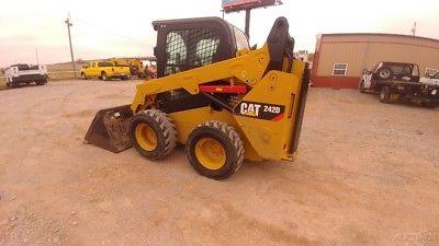 2015 Caterpillar 242D 242 D Cab A/c Skid Steer Loader Hyd Quick Attach