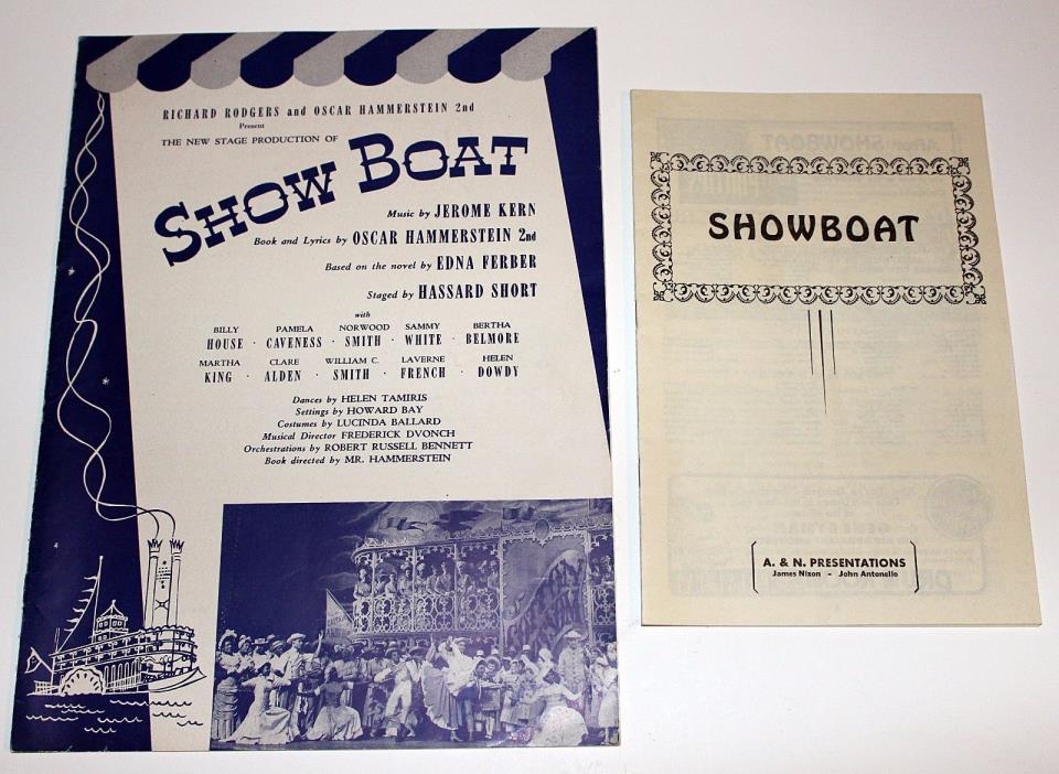 Original 1946 Rodgers & Hammerstein SHOW BOAT Souvenir Theater Program Ephemera