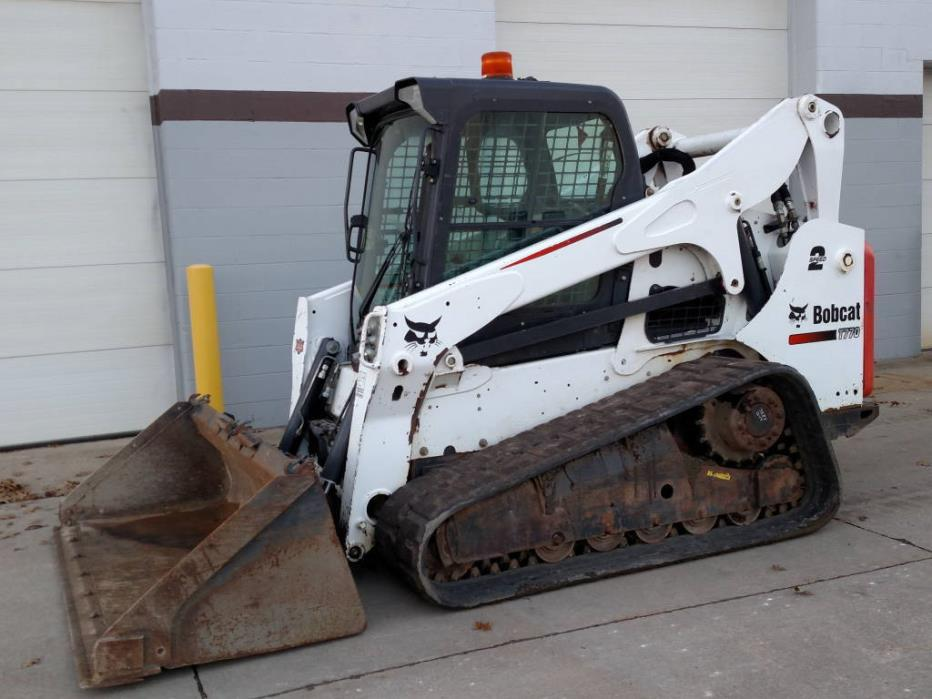 2014 BOBCAT T770 Cab/Heat/AC/2speed/HIGH FLOW  / A91 package, track loader