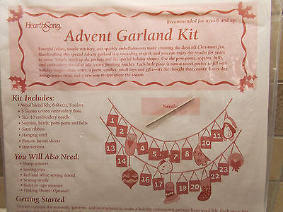 Advent Garland Kit Ages 8 and Up Christmas Craft Kit