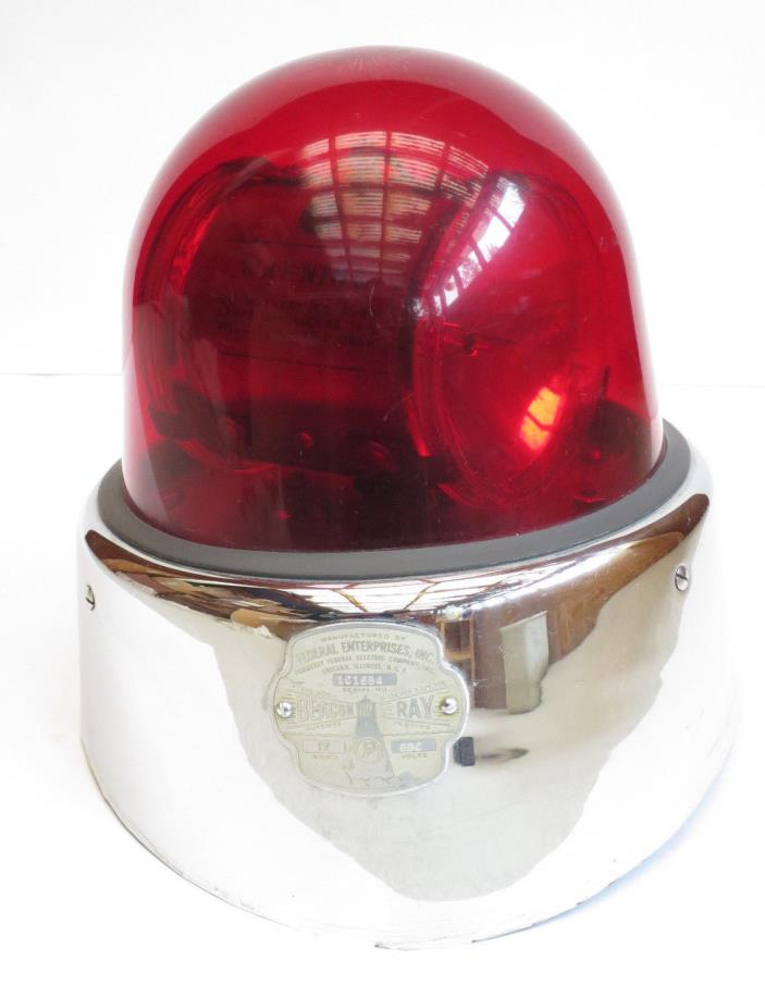 Original Vintage Fire Truck Beacon Ray Emergency Light 1950s Federal Enterprises