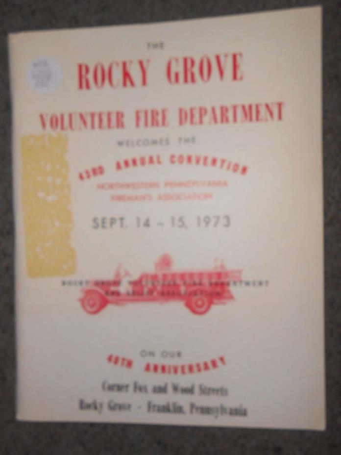 1973 Rocky Grove-Franklin Volunteer Fire Department Northwestern PA Fireman's As