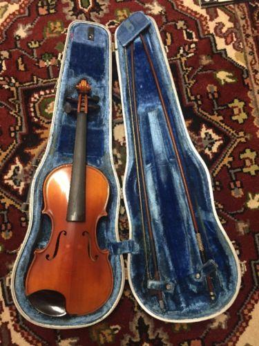 Old German Lewis Ton Klar  3/4 Violin, For Repair Or Parts.