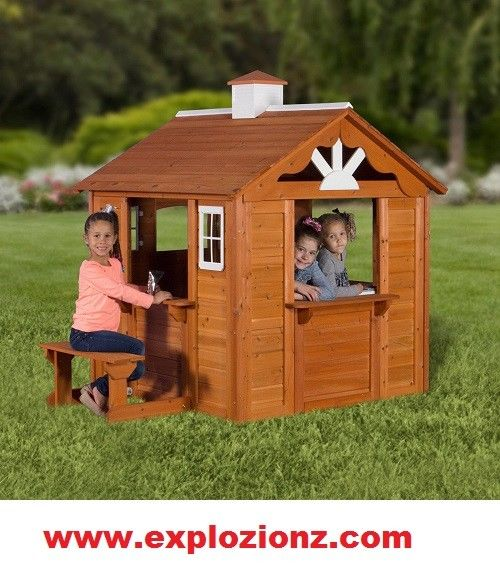 Top Quality Backyard Discovery Summer Cottage Wooden Cedar Play House Toy Gift