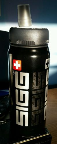 SIGG Siggnificant Active Sport Top Swiss Water Bottle Black 0.6 Liter 20 oz. NEW