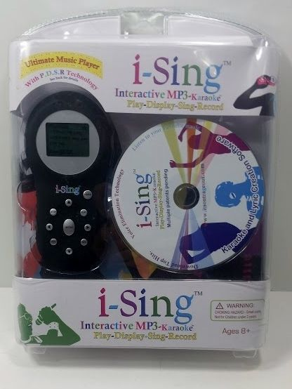 I-Sing Interactive MP3 Karaoke Ultimate Music Player Play, Display, Sing, Record