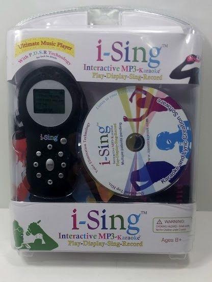I-Sing Interactive MP3 Karaoke Ultimate Music Player Play, Display, Sing, Record