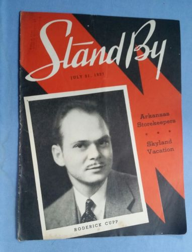 STAND BY Magazine July 31, 1937 (Vol. 3, No. 23) Roderick Cupp WLS Radio