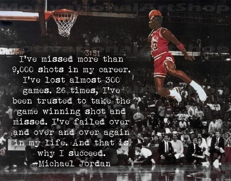 Michael Jordan Poster, Inspirational Motivational Poster