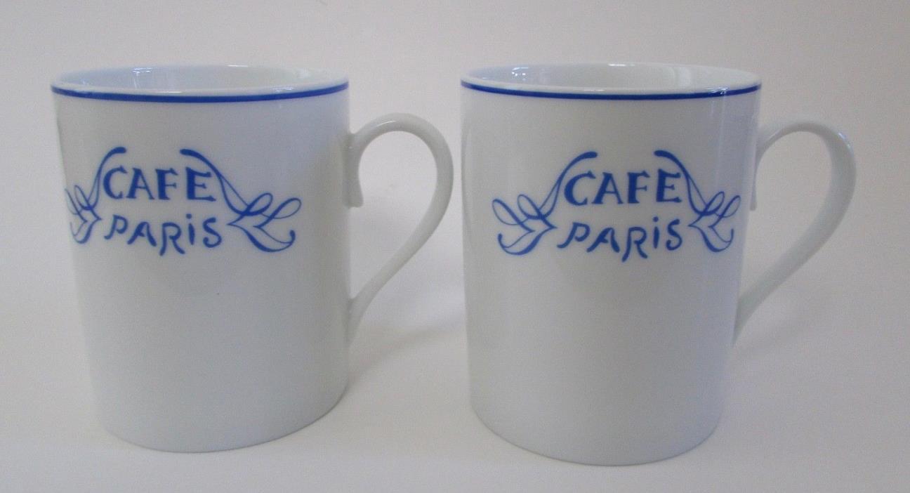 Bernardaud France Cafe Paris Blue 3.5