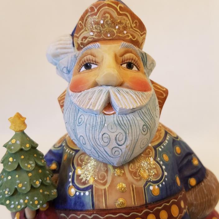 Majestic Jovial Santa  2002 Giftgivers Santa Series G. DeBrekht Russian Folk Art