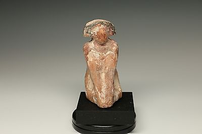 EGYPTIAN CARVED WOOD BOATMAN - ANTIQUITY