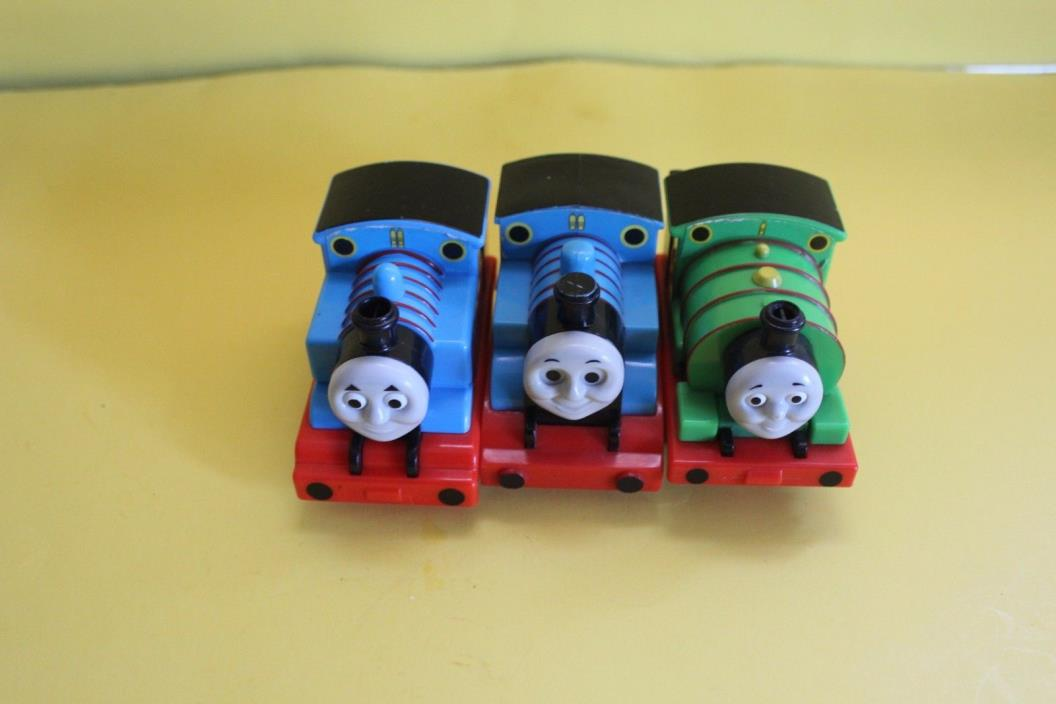 LOT OF 3 PLASTIC THOMAS THE TRAIN TOYS: 2 THOMAS TOYS 1 PERCY TOMY BRAND 2004-09