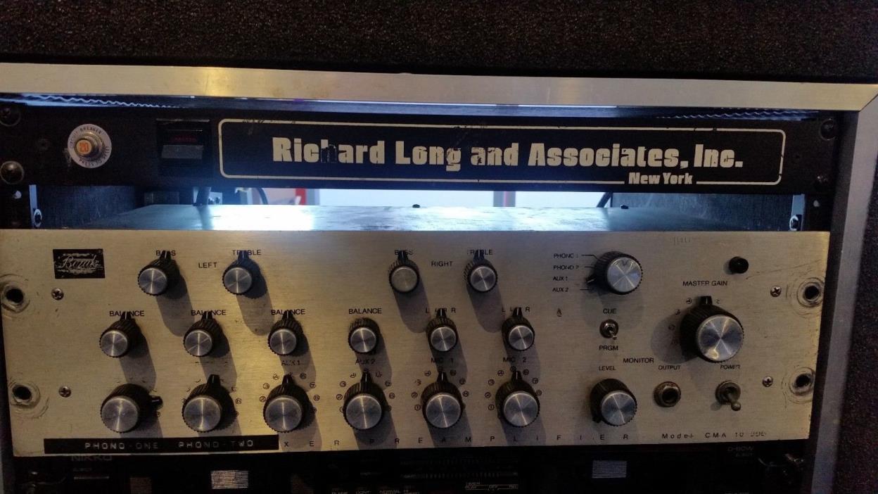 Bozak-CMA-10-2DL Six Channel DJ Mixer / Serviced by Richard Long & Associates