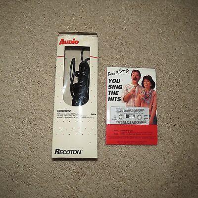 Recoton Audio Microphone DMK200 Pocket Songs Cassette Karaoke Carpenters YouSing